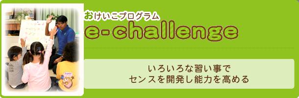おけいこプログラム『e-challenge』